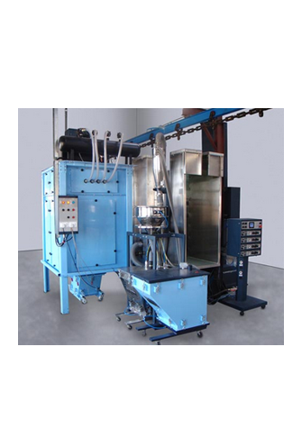 Cartridge recovery powder spray booth